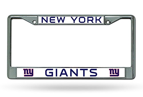 New York Giants NY Metal Chrome License Plate Tag Frame Cover Football by Rico