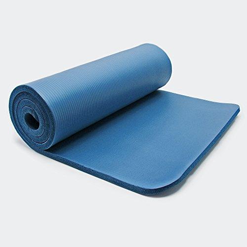 Wiltec Yogamatte blau 185x80x1,5cm Turnmatte Gymnastikmatte Bodenmatte Sportmatte rutschfest extradick