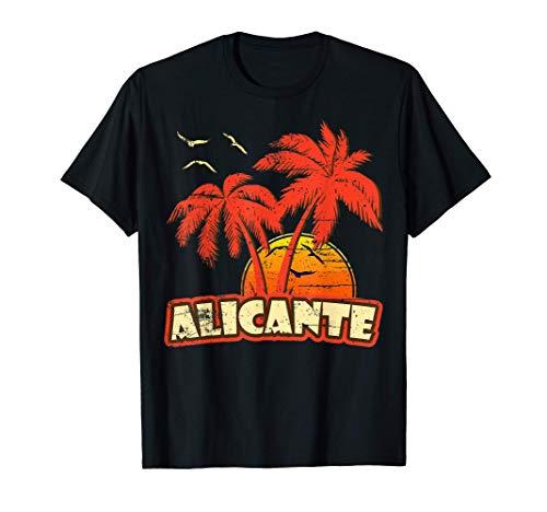 Alicante Sommerpalmen 80er Beach Beach Sunset T-Shirt