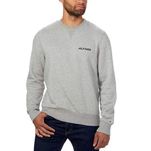 Tommy Hilfiger Men's Crew Sweatshirt (Medium, Grey)