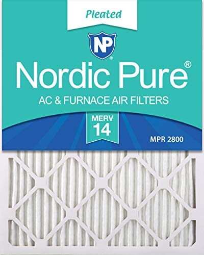 Nordic Pure 14x30x1 MERV 14 Pleated AC Furnace Air Filters 2 Pack
