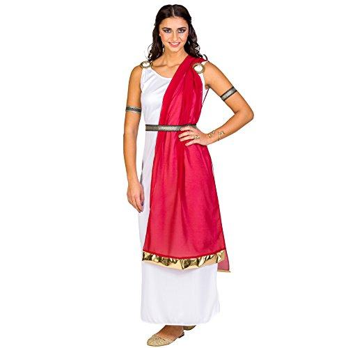 TecTake dressforfun Disfraz para Mujer de la ciudadana Romana Reina Diosa Antiguo | Vestido + cinturón Elegante & brazaletes Superiores (S | no. 300202)