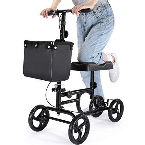 YHRJ Deambulatore Camminatore per fratture del Piede,Stampelle per Riabilitazione a Gamba Singola,Ausili per la deambulazione con Ruote per ausili,può sopportare 136 kg