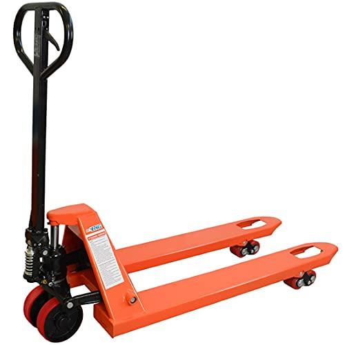 Transpallet manuale doppi rulli, sollevatore pallet ruote in poliuretano, portata 2500 kg, forche 1150x550 mm professionale, carrello elevatore standard 2,5 T - echoENG MA SL TT25