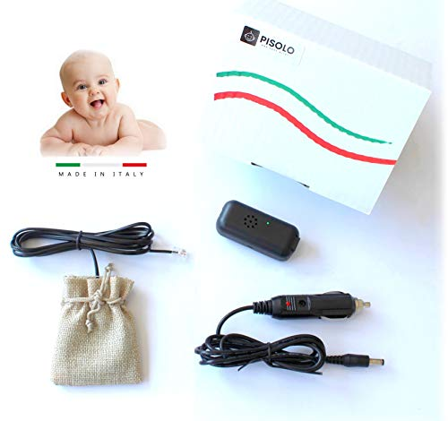 PISOLO - Made in ITALY - Dispositivo Antiabbandono bimbi con sensore - NO App NO Bluetooth NO Onde Radio - Sistema a Norma di Legge Anti...