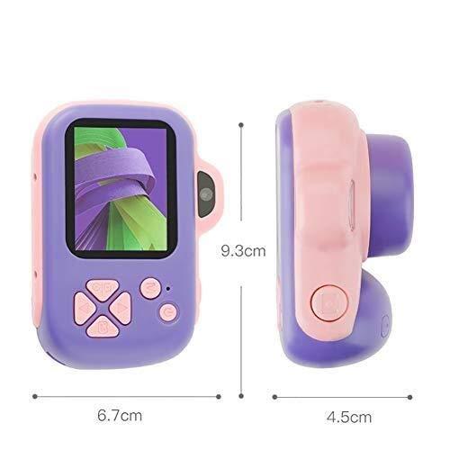AZHom Cámara Digital Infantil for bebés, niños cámara Rosa con Pantalla 1080P y Tarjeta SD de 8 GB, al Aire Libre for niños pequeños Boys Toys, Regalos de cumpleaños for niñas de 3-12 años de