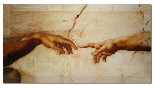 Bilderdepot24 Wandbild - Michelangelo Creation of Adam - 100x60cm