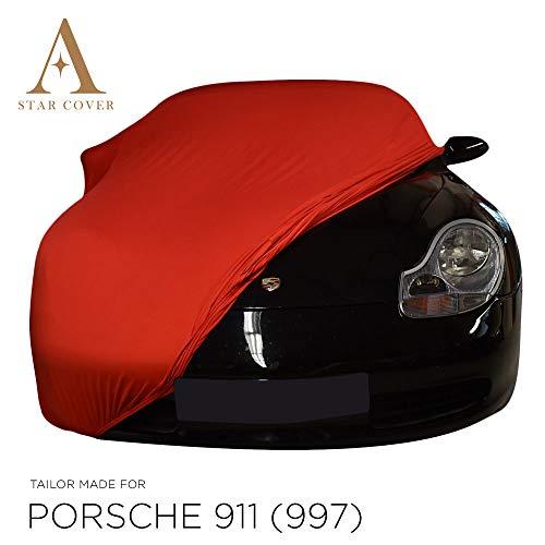 Star Cover AUTOABDECKUNG ROT Porsche 911 (997) SCHUTZHÜLLE ABDECKPLANE SCHUTZDECKE
