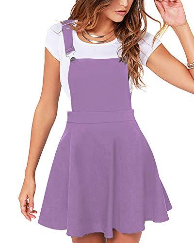 YOINS Rock Damen Mädchen Minirock Kawaii A Linie Mini Skater Rock Kleider für Damen Minikleid Skaterkleid,Pinafore Kleid-lila,S