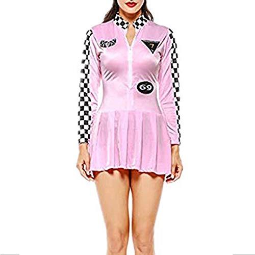 Mitef Baseball-Kleid für Wettkampf, Uniform, Pom-Pom Girl Racing Suit Halloween Kleid Gr. Medium, Rosa