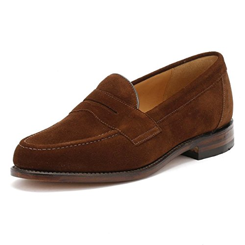 Loake Eton Mens Suede Formal Loafers Braun Wildleder 41.5 EU