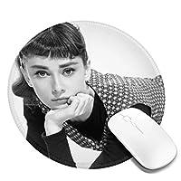 オードリーヘップバーン 丸型 マウスパッド ゲーミングマウスパッド パソコン 周辺機器 光学式マウス対応 オフィス自宅兼用 防水 洗える 滑り止め 高級感 耐久性が良い 20*20cm