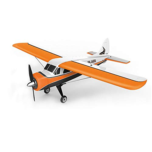 BLACKOBE EPS Material Remote Control Airplane Xk Brushless Motor 3d6g RC Jet,Dhc-2 A600 4ch 2.4g 6 Axis Glider Easy to Control,Steady Flig,Ready to Fly Plane Drone Gift for Kids, Beginners,Adult