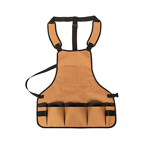 Tuin Tool Opslag Schort Waterdicht met Multi Pocket Verstelbare Riem Oxford Tuin Werkkleding Draagbaar Gereedschap Schort Koffie