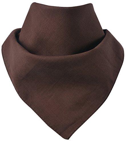 Miobo - Bandana/foulard da collo, 100% cotone, taglia unica marrone tinta unita. M