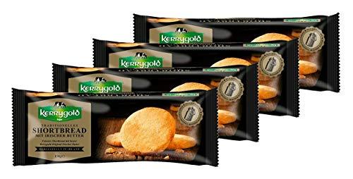 Kerrygold Shortbread Original - Irish Butter Biscuits - Traditionelles Irisches Mürbeteiggebäck, 150 g, 4er Pack, ( 4x150g )