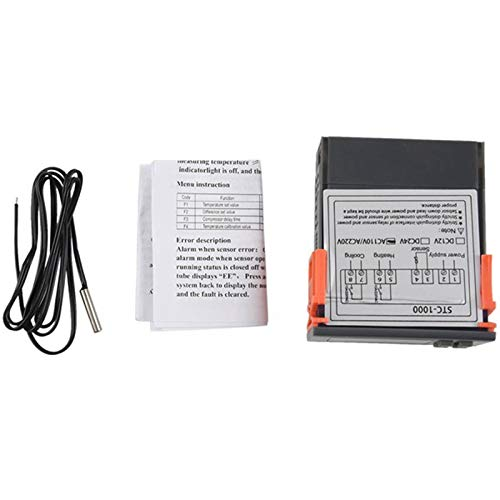 Ctzrzyt Controlador Digital de Temperatura Termostato Termostato Incubador Relé LED 10A CalefaccióN y RefrigeracióN STC-1000 220V