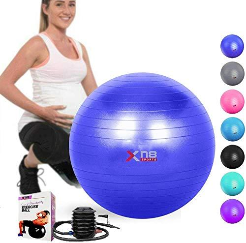 EVER RICH/® Balle dexercice Gym Yoga Fitness Grossesse Naissance 65 cm Pompe /à Main