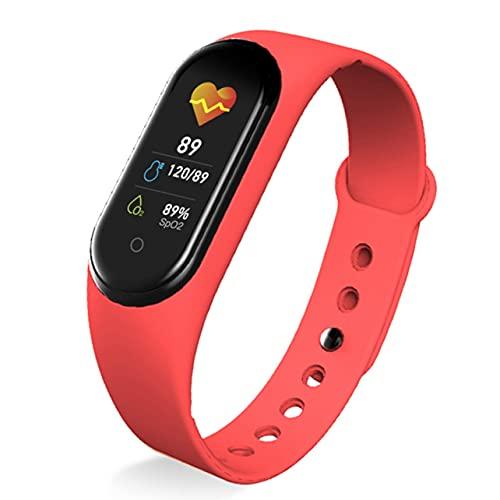 MARSPOWER Pulsera Inteligente M5 Pulsera de Fitness Inteligente Banda con medición de presión Medidor de Pulso Rastreador de Actividad Deportiva Hombres Mujeres Reloj Pulsera - Naranja