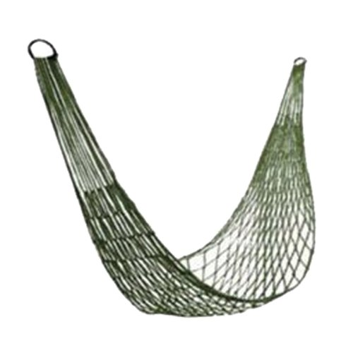 Unimango Nylon Mesh Rope Hammock Sleeping Nest Bed Cot for Hiking Camping Outdoor Sports with Storage Sleeve Military Green
