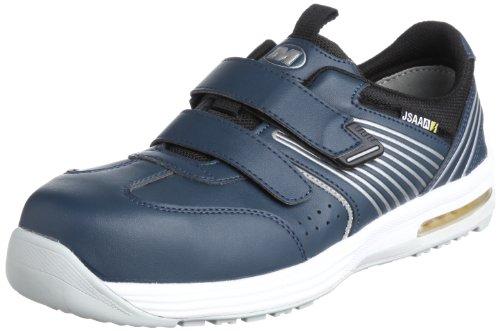[ミドリ安全] 安全作業靴 JSAA認定 静電気帯電防止 耐滑 マジックタイプ プロスニーカー ISA805 メンズ ネイビー 30.0(30cm)