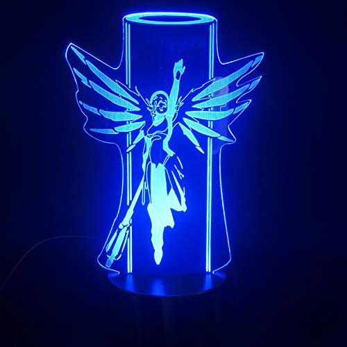 3D Illusie Licht 3D Nacht Licht Pioneer 16 Kleur Changestouch Afstandsbediening Enight Licht Nieuwjaar Kerstmis Gift Lights voor Children's Home Decoratie