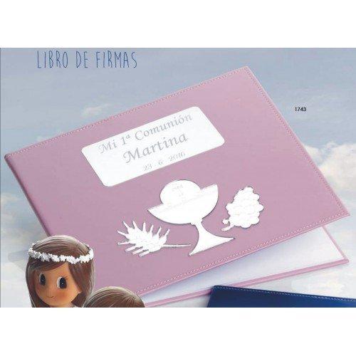 Libro de firmas para niña de comunión GRABADO libros PERSONALIZADOS con bolígrafo de regalo