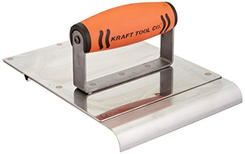 Kraft Tool CF046PF Stainless Steel Hand Edger/Groover 1/2-Inch Radius with ProForm Handle, 6 x 8-Inch,Multi