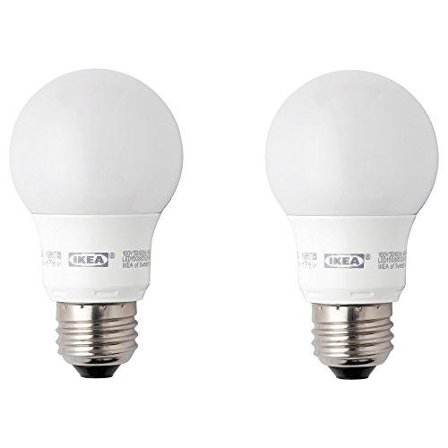 IKEA RYET 40306273 LED 電球 E26 400ルーメン 球形 オパールホワイト 2 ピース