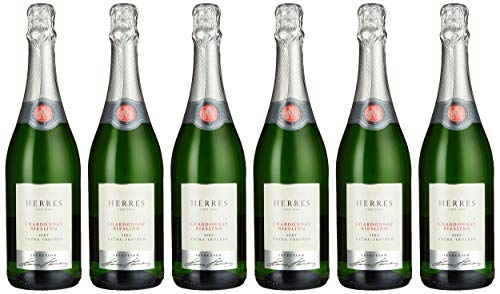 Herres Chardonnay Riesling Sekt extra trocken, 6er Pack (6 x 750ml)