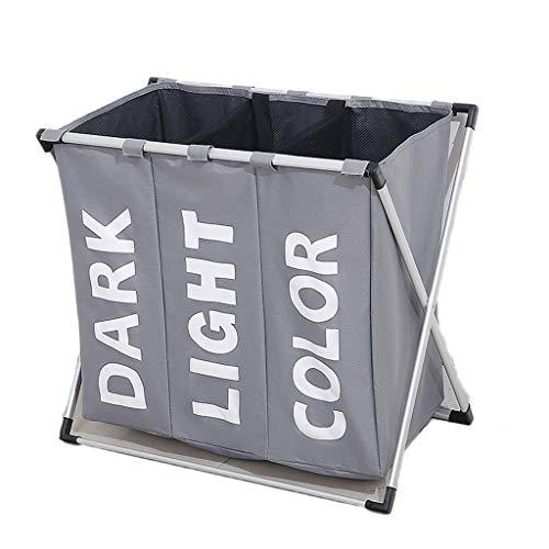 LTAO Wasmand voor grote wasmand, opvouwbaar, van aluminium, grijs/bruin
