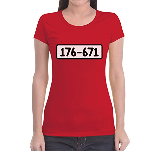 Panzerknacker Shirt Kostüm Karneval Fasching Frauen T-Shirt Slim Fit Medium Rot