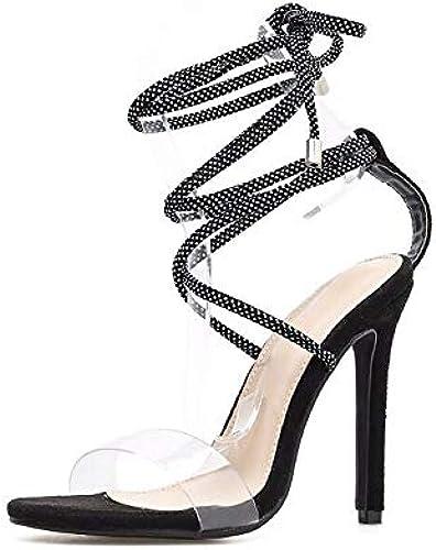 Weißliche Sandalen Querriemen Transparente PVC sexy schlanke High -Heels -Heels -Heels Schuhe  preiswert kaufen