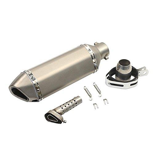 KKmoon Silenciador de Tubo de Escape 38-51mm Hexagonal Cola Universal para Motocicleta (Pattern 1)