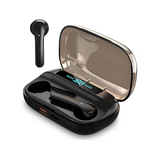 Auriculares Bluetooth,Auriculares Inalámbricos Bluetooth 5.0,Estéreo internos con indicador de batería,Micrófono Incorporado,Auriculares deportivos con control táctil con caja de carga portáti