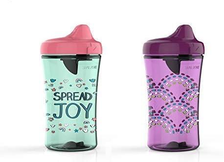Gerber Graduates Advance Developmental 10 Ounce Hard Spout Sippy Cup, 2 Pack, Pink/Purple