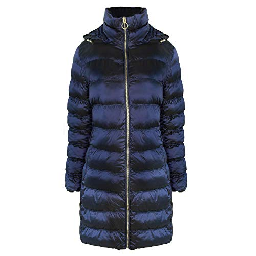 Michael Michael Kors Women'sBlue Down 3/4 Packable Coat