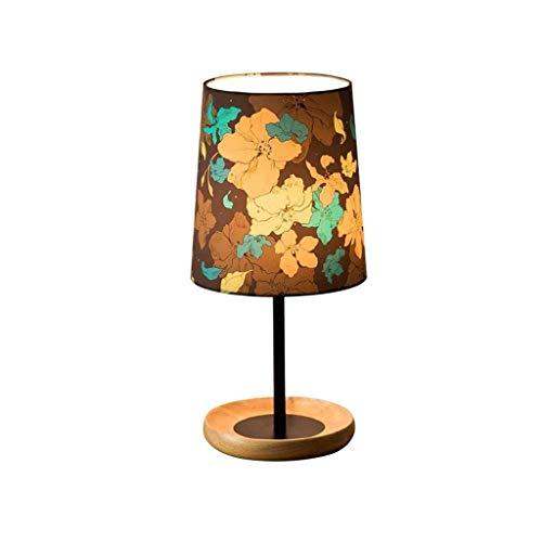 FFLJT Lámpara de mesa de madera maciza Lámpara de jardín Salón Dormitorio Dormitorio lámpara de cabecera lámpara de mesa de boda simple moderna (Color : A)