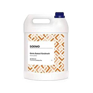 Amazon Brand - Solimo Germ-Protect Handwash Liquid, 5 L