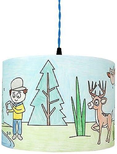 Mullan Enfants Luminaire à Couleurier pour Enfant Forêt