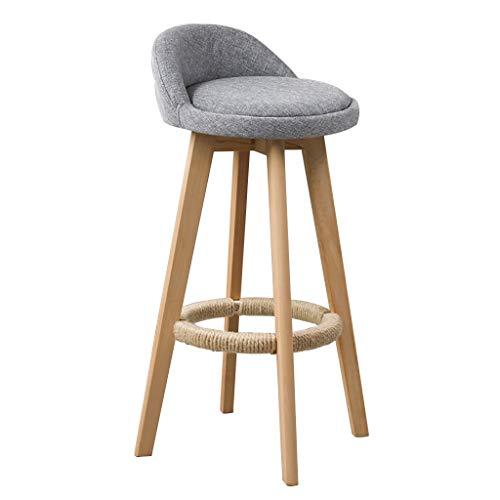 Tabouret tournant de bar, tabourets hauts modernes en bois plein, chaises ergonomiques de dossier conçues for le restaurant, le bureau, le comptoir et la famille (Color : C)