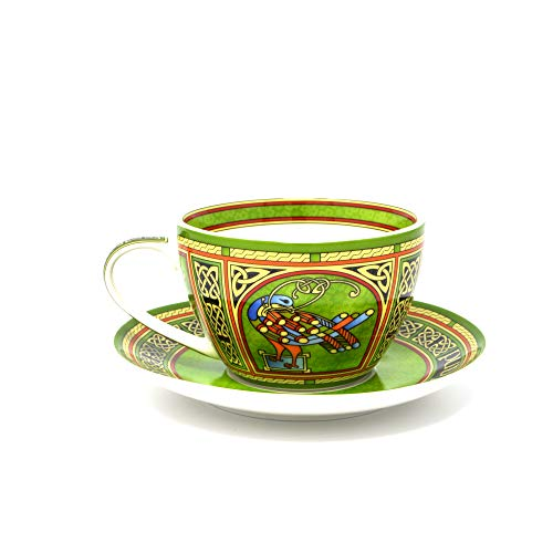 Royal Tara Celtic Peacock Cup & Saucer - Irish Weave