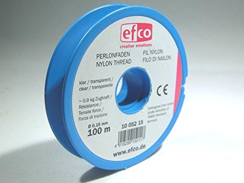 efco Zugkraft Gewinde, Polyamid, klar, 0,9kg, 0,15mm Durchmesser, 100m