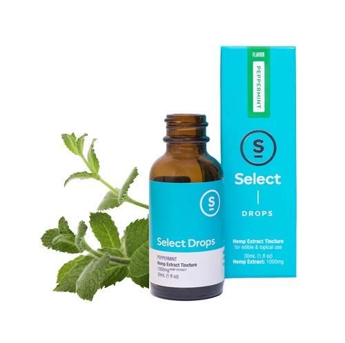 Select Hemp Peppermint Drops - Pure Hemp Extract - 30ml, 1000mg Hemp Oil, 1 Fluid Ounce
