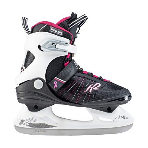 K2 Skates Damen Alexis Ice PRO Skates, Schwarz/Weiß, 38 EU