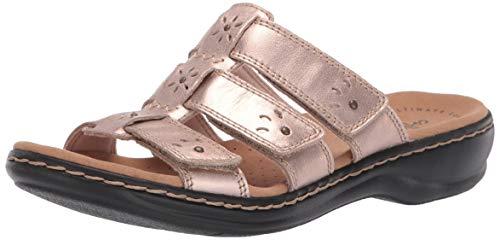 Clarks Women's Leisa Spring Sandal, Rose Gold Leather, 70 M US