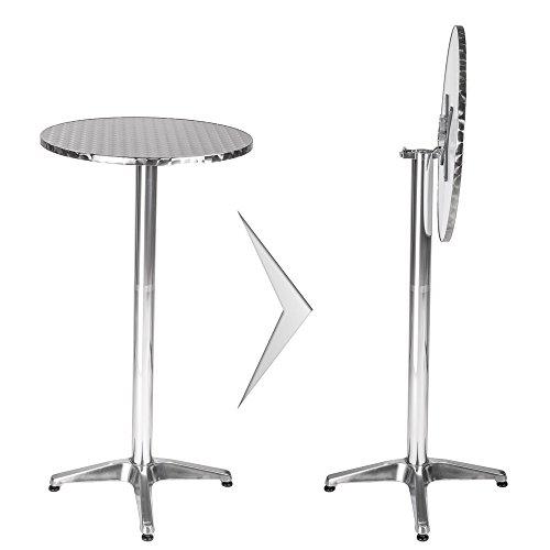 TecTake Aluminium Bistrotisch rund höhenverstellbar - Diverse Modelle - (Viktor   Nr. 401489)