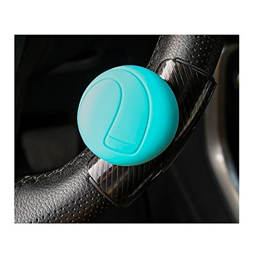 Saladplates-LXM Steering Wheel Spinner for Vehicles, Easy-to-Handle Power Handle, Steering Wheel Knob Compatible with Steering Wheel Accessories AC Schnitzer 5 Series (Color : Blue)