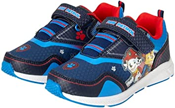 Nickelodeon Boys' Paw Patrol Sneakers - Light Up Running Shoes (Toddler/Little Kid), Size 9 Toddler, Navy and Blue