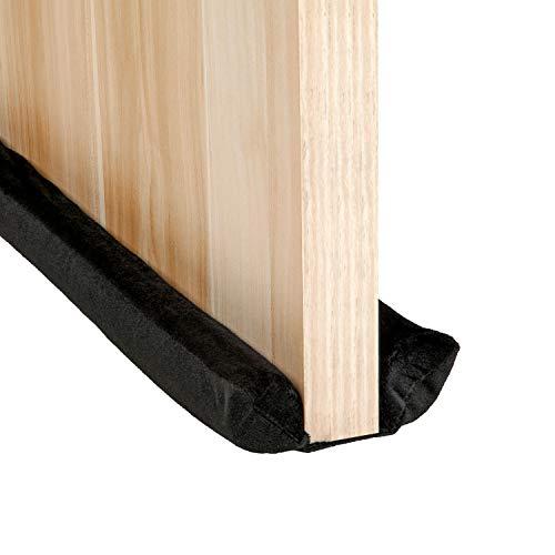 VERGILIUS Under Door Draft Stopper,Improved Adjustable Double Draft Noise Blocker Sweep for Sound Dust Proof (Black)